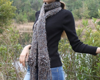 Hand-Knit Hat and Scarf Set