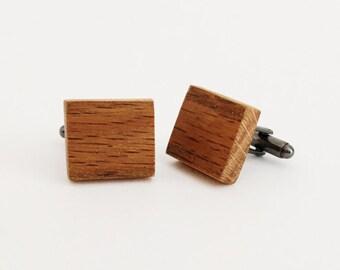 Reclaimed Wood Cufflinks