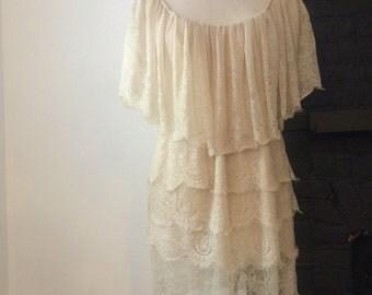 Vintage cream lace dress