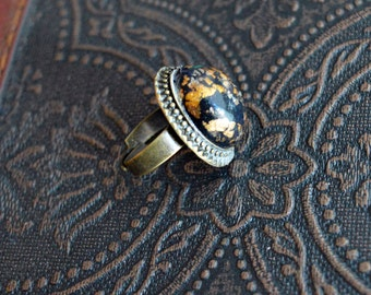 Black and gold Dragon Egg Ring