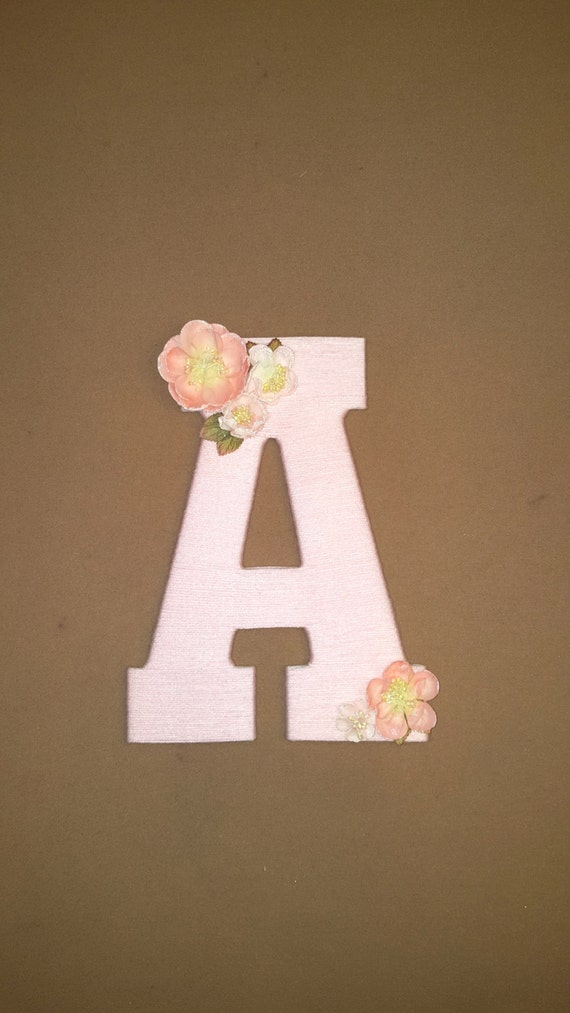 Like this item? & Nursery Letter Pink Yarn Wrapped Letter A Baby Door Hanger