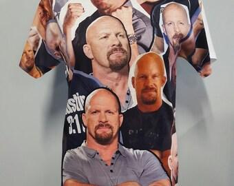 Stone Cold Steve Austin Photo Collage Shirt