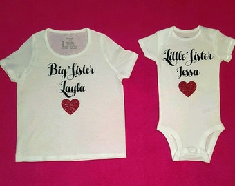 Big Sister Little Sister Matching Shirts