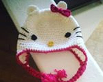 Hello Kitty ® Inspired Crocheted Hat