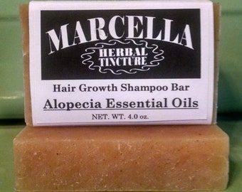 Alopecia Essential Oil Handcrafted Solid Hair Growth Shampoo Bar All Natural Organic Vegan Stimulates Follicles For New Hair Growth