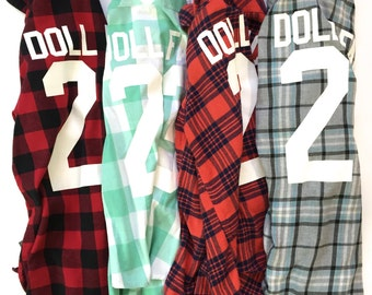 Women's DOLL FACE Vintage Flannel (small) | grunge flannel | women's flannel