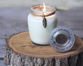 Small Soy Candle - Essential Oil Candle - Jar Candles -  Aromatherapy Candle - Natural Candles - Hand Poured - Clean Haven Naturals