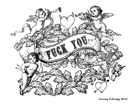 Fuck You Swear Words Coloring Page From The By