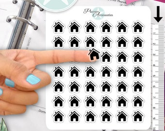Clear House Stickers Home Stickers Planner Stickers Erin Condren Functional Stickers Decorative Stickers NR360