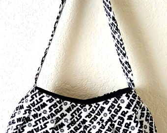 Star Wars Pleated Purse- Black and White