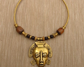 Necklace - African mask