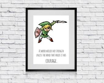 Legend of Zelda Quote Print