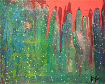 Rain 11x14 ORIGINAL acrylic painting on canvas