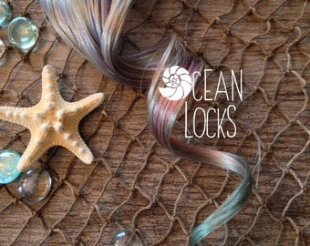 Silver Ombre Hair, Green Hair, Violet Hair Extensions, clip ins, Ombre hair extensions, Pastel hair extensions, Pink Hair