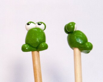Frog Knitting Needles