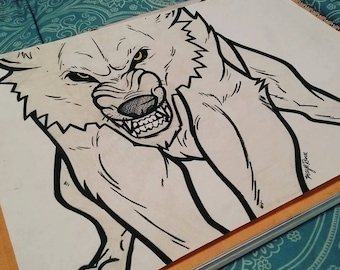Wolfie Drawing