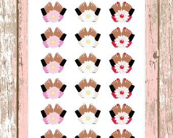 09244 Hair Straighter Appointment Planner Stickers. by ...