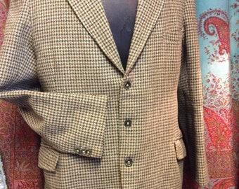 Classic vintage tweed riding jacket