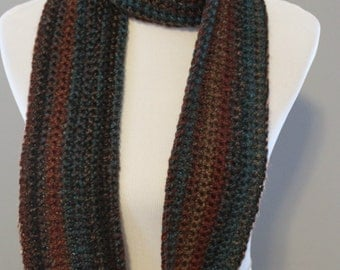 Long  Crochet  Scarf, Twice Wrap Scarf