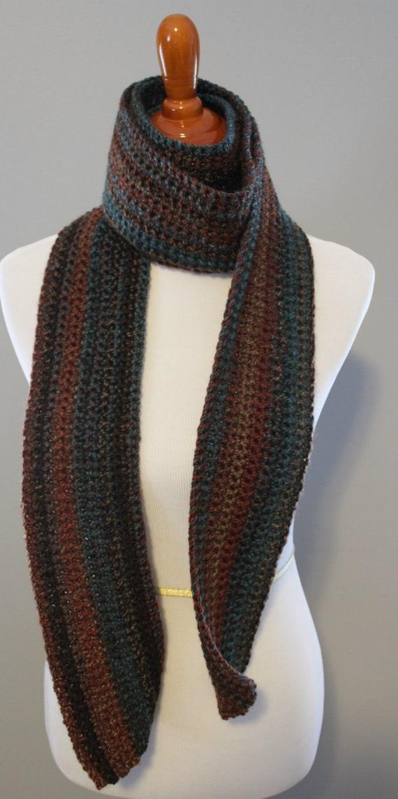 crochet scarf wrap scarf mens scarf crochet