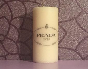 Prada Logo Candle (Vanilla Scented)