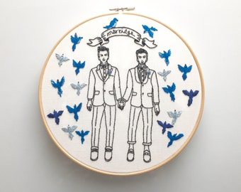 """Embroidery art """"Marriage"""""""