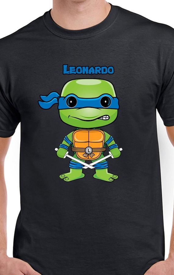 Teenage mutant ninja turtles leonardo chibi t shirt by for Where can i buy ninja turtle shirts