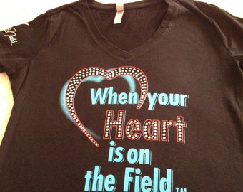 """Mama McNabb """"When You're Heart is on the Field"""" tees"""