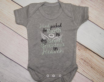 Hand Picked for Earth Custom Bodysuit - Heaven Shirt - Custom Shirt - Girls Bodysuit - Boys One Piece - Rainbow Baby Outfit