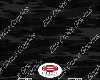 "Traditional Black 15""x52"" or 24""x52"" Truck/Pattern Print Tree Real Camouflage Sticker Roll or Sheet"