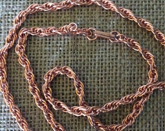 """Copper 24"""" Rope Chain Necklace"""