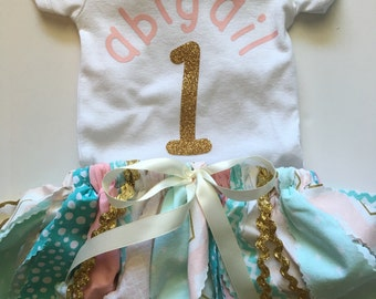 Custom Girls First Birthday Outfit
