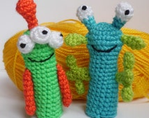 Finger Puppets crochet puppets crochet finger theater monsters alien amigurumi play theater teaching aids Waldorf toy home school accesorry