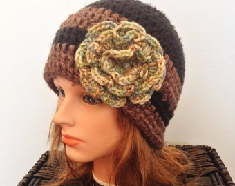 Women's Soft Winter Hat with Flower