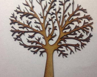 Wooden MDF Tree Shape blank,Family Tree,Guestbook,Crafting 150 mm