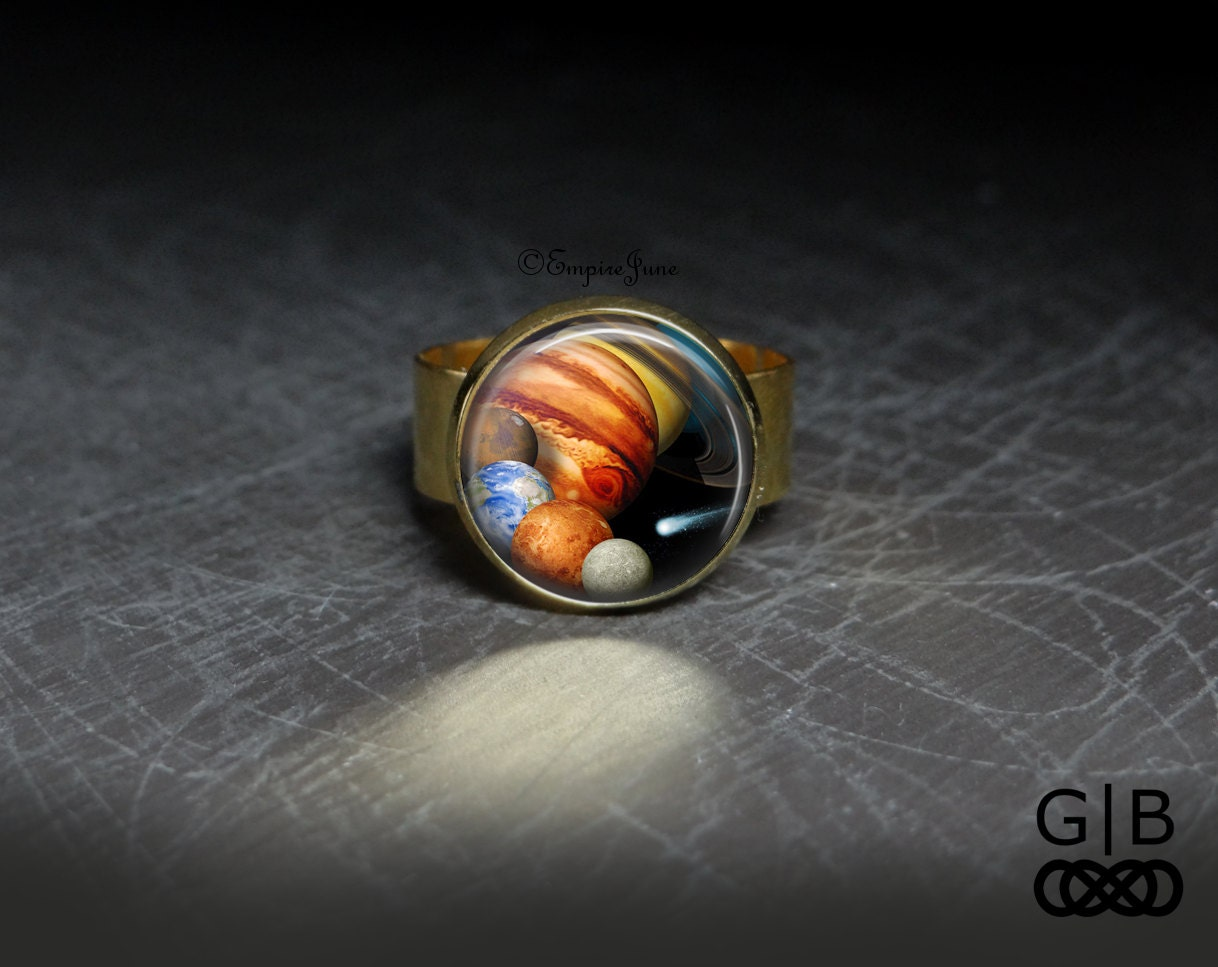 Solar System Ring Planet Jewelry Solar System by GalaxyBORN