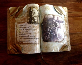 Book sculpture - Gift idea  - Antique Book - Romantic and personalized Gift - Art Book