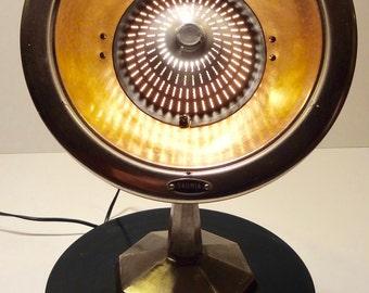 Heating lamp Sauria 50s Vintage look workshop turned into lamp