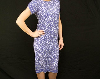 """30% OFF CLEARANCE SALE 1940s insired 1980s """"Petites for Maggy"""" Purple shift dress"""