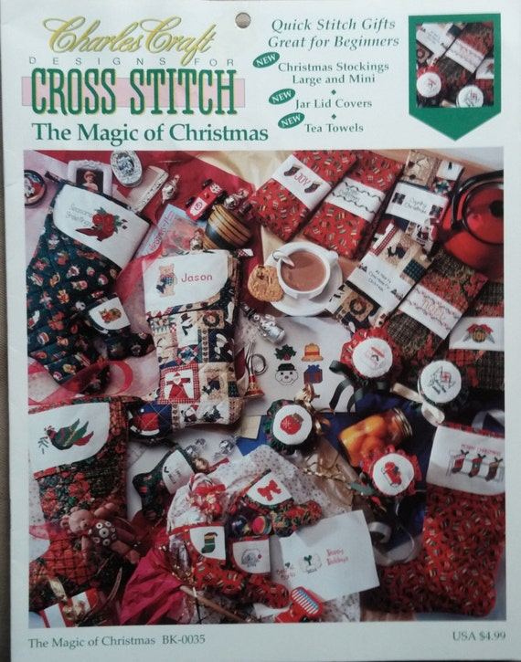 Charles craft the magic of christmas cross stitch patterns for Charles craft christmas stockings