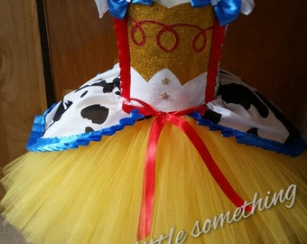 Toy Story Jessie cowboy inspired tutu dress