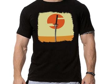 Samurai Champloo Sword Minimalist Anime Inspired T-shirt. Male and Female Apparel