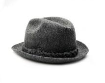 Vintage Grey Men's Fedora Hat, Tiroler Loden Moessmer Hat, Playboy Stetson Hat, 1950s Fedora Hat Mid Century Gentlemen's Hats, Vintage Wool