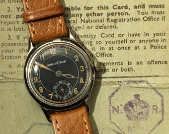 Jaeger le Coultre 1940's Military cal.463 Black Dial