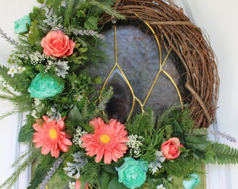 Spring Wreath, Summer Wreath, Front Door Wreath, Grapevine Wreath, Floral Wreath, Daisy Wreath, Rose Wreath