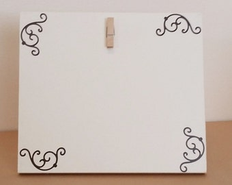 Picture Frame, Small picture frame, Cream Picture Frame, Clip picture frame, 4 x 6 picture frame, Wood picture, custom picture frame