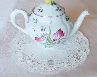 Vintage Spode Teapot & Tea Cup in Marlborough Sprays