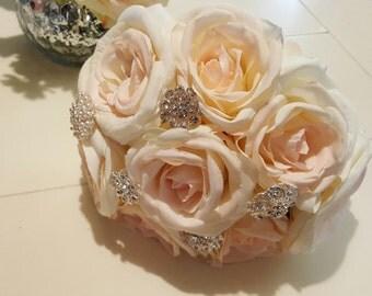 Rose & brooch bouquet