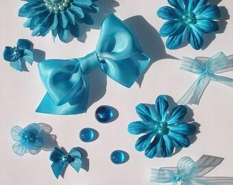 Inspiration Kit Embellishments Silk Flower Papercrafts Hair Bows Hats Scrapbooking Needlecrafts Home Decor