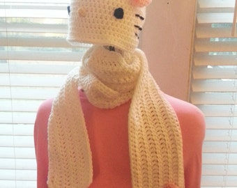 Hello Kitty Inspired Hat and Scarf